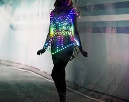 pink led light up cage fashion dress