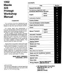 mazda 323 protege bg factory service manual 1989 1994 pdf pdf