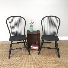 Antique Spindle Rocking Chair Black Windsor Chairs Farmhouse Dining Chairs Antique Wooden