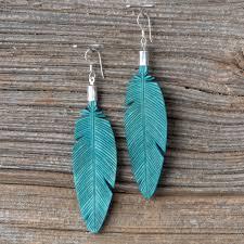 feather earrings leather feather earrings leather earrings 41