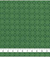 lucky irish print fabric celtic medallions joann