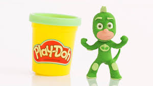 gekko pj masks play doh stop motion videos frozen play doh