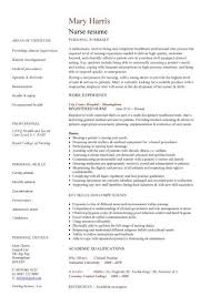 sample nursing cv resume template with work experience experienced