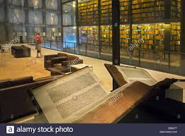 gutenberg bible at the beinecke rare book and manuscript library