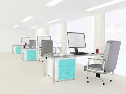 bureau lumineux intérieur d un bureau minimaliste moderne lumineux image stock