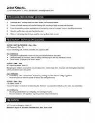 Resume Template For Waitress Resume Examples Restaurant Server Resume Templates Waitress