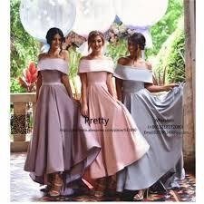wedding dresses for of honor hi lo gown 2017 shoulder bridesmaid dresses wedding guest