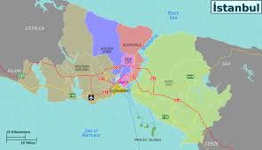 Bosporus Strait Map Istanbul Districts Map Png