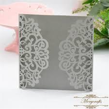 wedding invitations philippines light silver pearl 15cm laser cut wedding invitations philippines