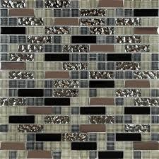 glass mosaic tile backsplash kitchen metal coating tile designs mg004