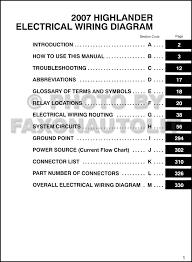 toyota highlander 2010 manual 2007 toyota highlander wiring diagram manual original