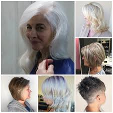 platinum hair on older women gray best hair color ideas trends in 2017 2018