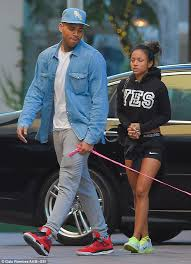chris brown and karrueche take a stroll with their