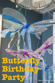 Birthday Decoration Ideas At Home Stay At Home Ista Little U0027s Butterfly Birthday Party A 5th