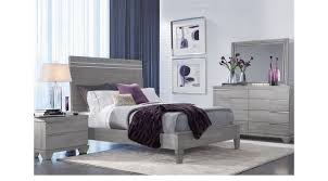 Boerum Bed Frame Hill Gray 7 Pc Bedroom Panel Contemporary