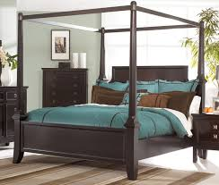 black wood king size canopy bed frame bed and shower romantic