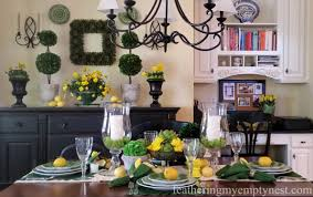 when life gives you lemons make a spring tablescape feathering