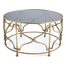 Coffee Tables Black Glass Brass Open Geometric Black Glass Coffee Table