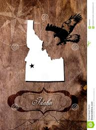 Idaho State Map by Poster Idaho State Map Outline Stock Photo Image 90840022