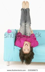 Exercise Upside Down Chair Woman Upside Down Stock Images Royalty Free Images U0026 Vectors