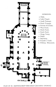 Anglican Church Floor Plan by Medieval Priory Of St Bartholomew The Great General Images