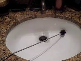 Cleaning Bathroom Sink Drain How To Use A Sink Drain Cleaner Brush Youtube
