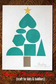shapes christmas tree craft kids shapes motor skills and free