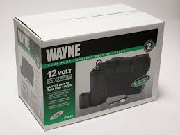 wayne esp25 12 volt battery back up sump pump system with audible