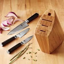 kitchen knives block set shun classic 4 knife block set williams sonoma