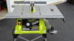 table saw with dado capacity ryobi table saw review tools in action power tool reviews