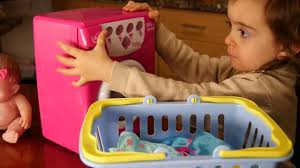 baby toys with lights and sound emily s washing machine toy for baby doll sound and light youtube