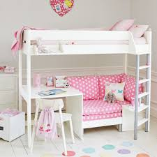 merlin high sleeper white with pink star sofa bed beds