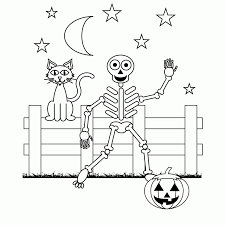 Halloween Color Printables Skeleton Coloring Pages For Kids Coloring Home