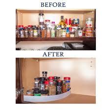 kitchen storage cabinet rack non slip 3 tier spice rack step corner shelf organizer for