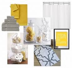 Grey And Yellow Bathroom Ideas Gray Yellow Bathroom Mostly White With Gray Yellow Accents