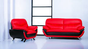 Black Living Room Furniture Sets Jonus 3 Pc Sofa Set Black Red Leather 2 498 00 Furniture