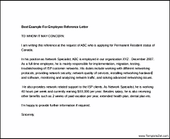 Reference Page On Resume Employment Reference Letter The Most Common Type Of Letter Of