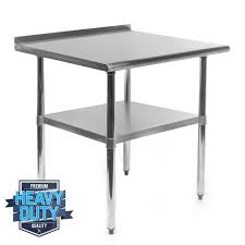 stainless steel prep table used gracelove 24 x 30 stainless steel work prep table with backsplash