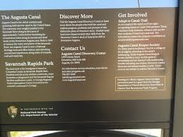 Interior Signs Trail Savannah Rapids Visitor Center Augusta Ga Top Tips Before You
