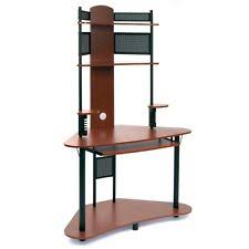 Tower Computer Desk Arch Tower Cherry Black Home Office Work Computer Desktop Pc Table