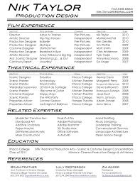 Resume Format For Assistant Professor Job by Film Resume Template Acting Resume Template Is Very Useful For