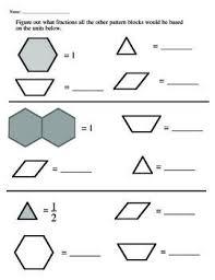 pattern block fraction worksheets free worksheets library