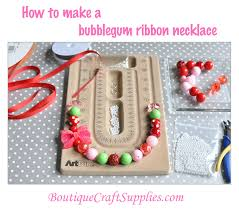 ribbon necklace making images Chunky ribbon necklace tutorial boutique craft supplies jpg
