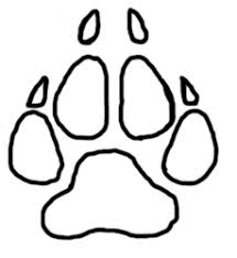wolf paw print line by elemental clan cats on deviantart