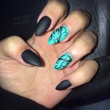 my nails stilleto black blue my style pinterest black