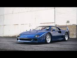 blue f40 a countryside blast in my blue f40 pipes
