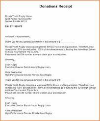 10 sample donation receipt letter for tax purposes return