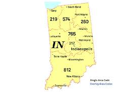 map of area codes meetings to be held on south central indiana area code
