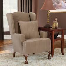 Stretch Wing Chair Slipcover Buy Sure Fit Chair Slipcovers From Bed Bath U0026 Beyond