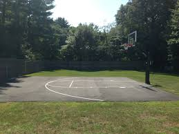 backyard transformation in the name of basketball